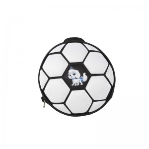Round Futbol Pattern Backpack