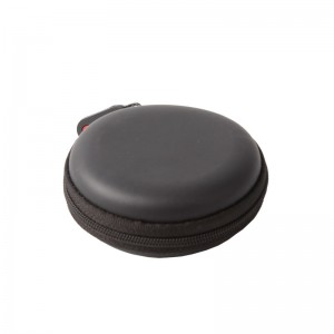 Factory Price Softball Storage Bag - Round Shape Carrying Hard EVA Case for Earbuds Earphone  – H&X